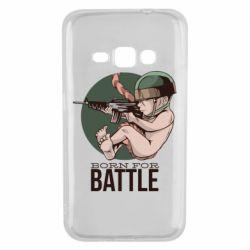 Чехол для Samsung J1 2016 Born For Battle