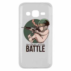 Чехол для Samsung J2 2015 Born For Battle