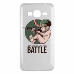 Чехол для Samsung J3 2016 Born For Battle