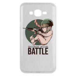 Чехол для Samsung J7 2015 Born For Battle