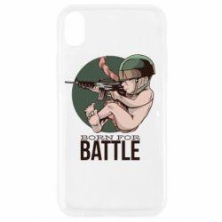 Чехол для iPhone XR Born For Battle