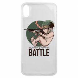 Чехол для iPhone Xs Max Born For Battle