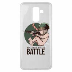 Чехол для Samsung J8 2018 Born For Battle