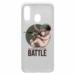Чехол для Samsung A40 Born For Battle