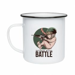Кружка эмалированная Born For Battle