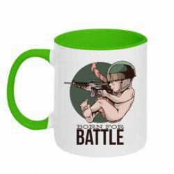 Кружка двухцветная 320ml Born For Battle