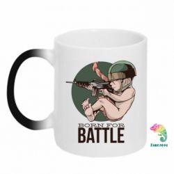Кружка-хамелеон Born For Battle