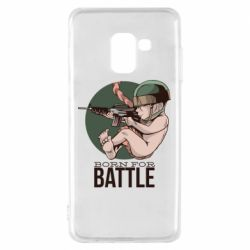 Чехол для Samsung A8 2018 Born For Battle