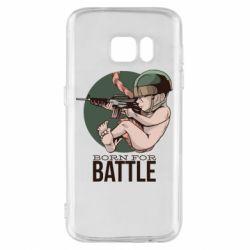 Чехол для Samsung S7 Born For Battle