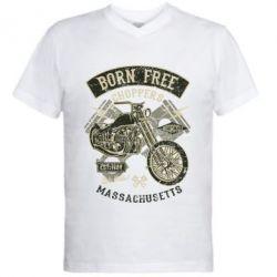 Чоловіча футболка з V-подібним вирізом Born Free Choppers