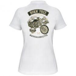 Жіноча футболка поло Born Free Choppers