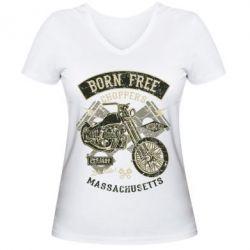 Жіноча футболка з V-подібним вирізом Born Free Choppers