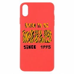 Чехол для iPhone Xs Max Born to be wild sinse 1995