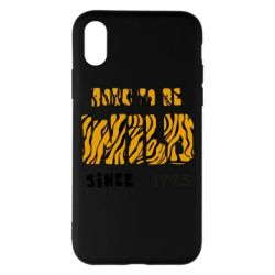 Чехол для iPhone X/Xs Born to be wild sinse 1995