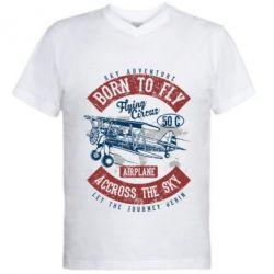Чоловіча футболка з V-подібним вирізом Born To Fly
