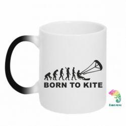 Купить Кружка-хамелеон Born to kite, FatLine