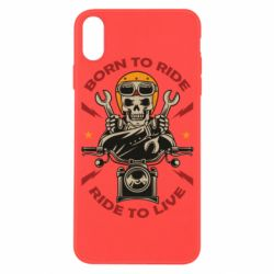 Чохол для iPhone X/Xs Born to ride, ride to live