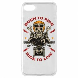Чохол для iPhone 8 Born to ride, ride to live