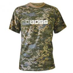 Камуфляжная футболка Boss audio - FatLine