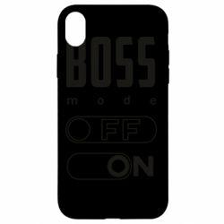 Чохол для iPhone XR Boss mode