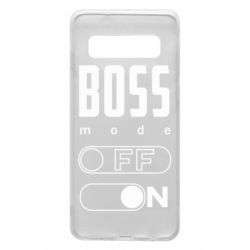 Чохол для Samsung S10 Boss mode
