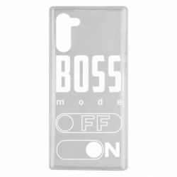 Чохол для Samsung Note 10 Boss mode