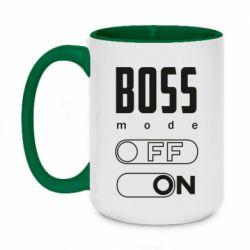 Кружка двоколірна 420ml Boss mode