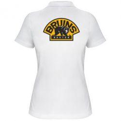 Женская футболка поло Boston Bruins - FatLine