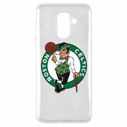 Купить Баскетбол, Чехол для Samsung A6+ 2018 Boston Celtics, FatLine