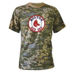 Камуфляжная футболка Boston Red Sox - FatLine