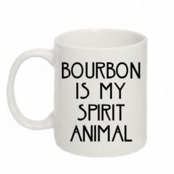 Купить Кружка 320ml Bourbon is my spirit animal, FatLine