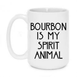 Купить Кружка 420ml Bourbon is my spirit animal, FatLine