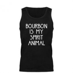 Мужская майка Bourbon is my spirit animal