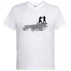 Мужская футболка  с V-образным вырезом Boxing Art - FatLine