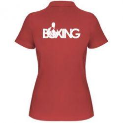 Женская футболка поло Boxing Art - FatLine
