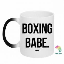 Кружка-хамелеон Boxing babe