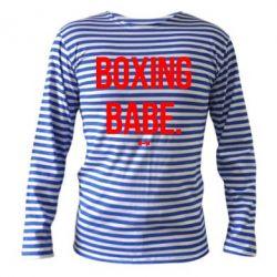 Тельняшка с длинным рукавом Boxing babe
