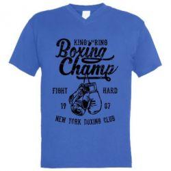 Чоловіча футболка з V-подібним вирізом Boxing Champ