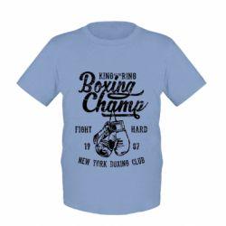 Дитяча футболка Boxing Champ