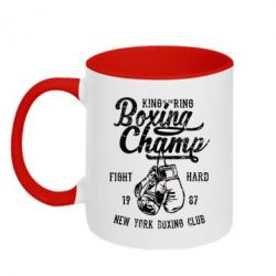 Кружка двоколірна 320ml Boxing Champ