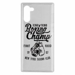 Чохол для Samsung Note 10 Boxing Champ
