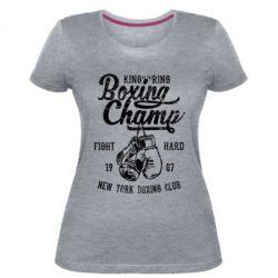 Жіноча стрейчева футболка Boxing Champ