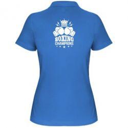 Купить Женская футболка поло Boxing champions, FatLine