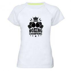 Купить Женская спортивная футболка Boxing champions, FatLine