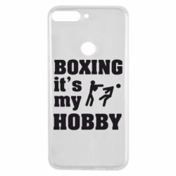 Чехол для Huawei Y7 Prime 2018 Boxing is my hobby - FatLine