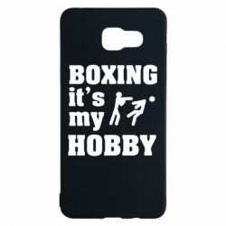 Чехол для Samsung A5 2016 Boxing is my hobby - FatLine