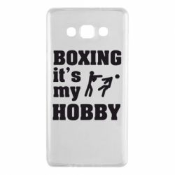 Чехол для Samsung A7 2015 Boxing is my hobby - FatLine