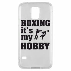 Чехол для Samsung S5 Boxing is my hobby - FatLine