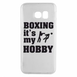 Чехол для Samsung S6 EDGE Boxing is my hobby - FatLine