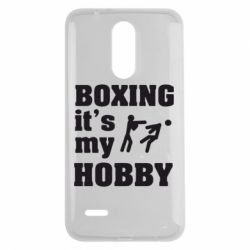 Чехол для LG K7 2017 Boxing is my hobby - FatLine